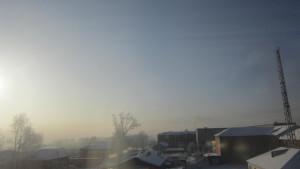 Зимнее утро в Сибири.